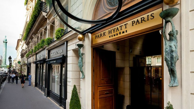 Street entrance to Park Hyatt Paris Vendome - on Hello Lovely Studio
