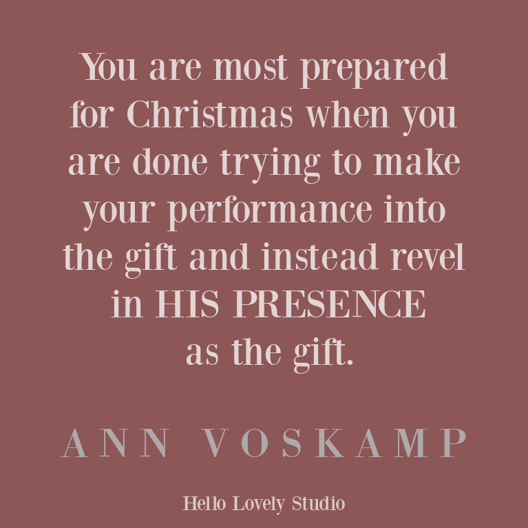 Ann Voskamp Christmas quote professing faith and Christianity - on Hello Lovely Studio. #christmasquote #christianityquote #annvoskamp #spiritualquote