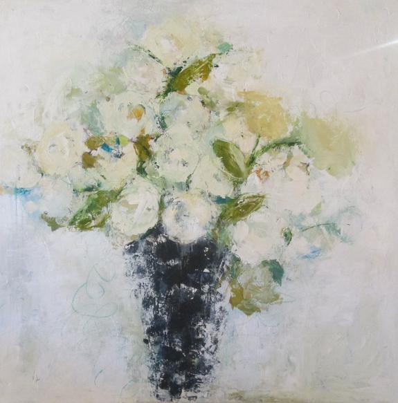 Beautiful floral impressionist painting by Holly Irwin. #hollyirwin #painting #floral