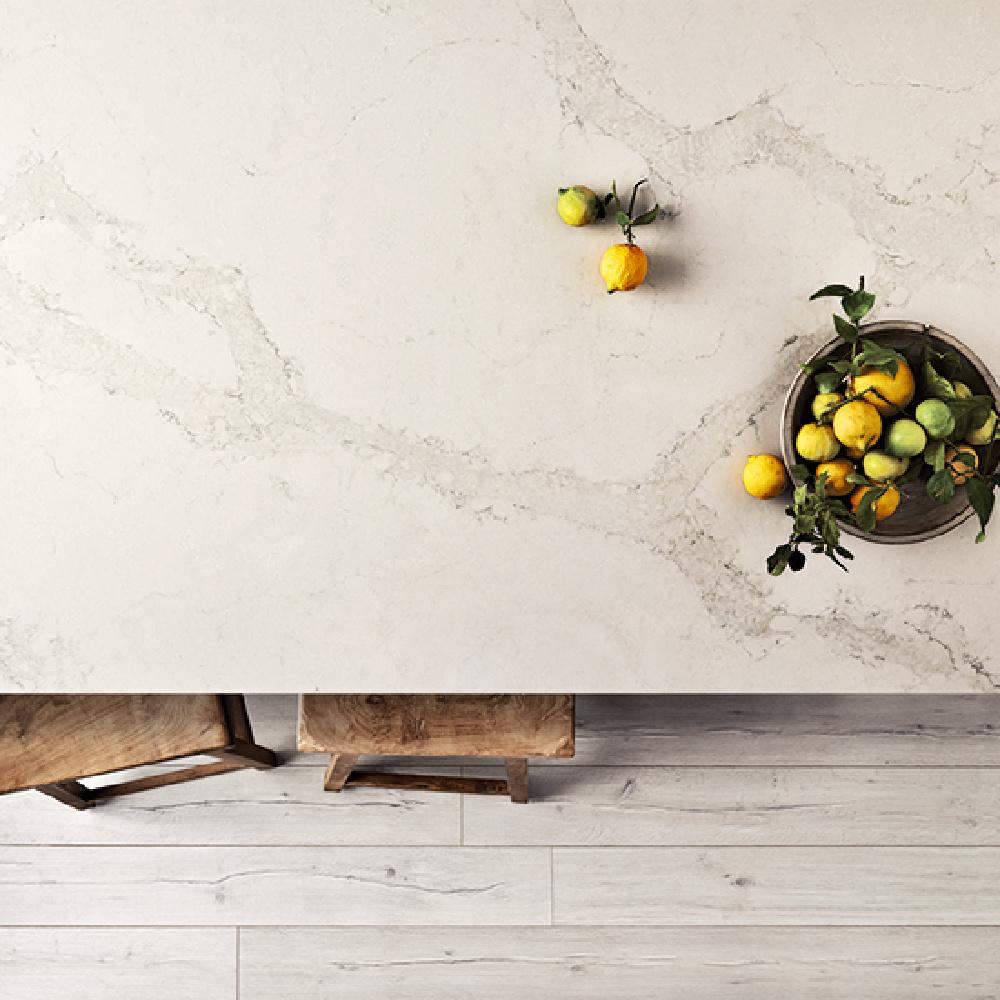 Caesarstone Calacatta Nuvo white quartz countertop #calacattanuvo #caesarstone #quartz #kitchendesign