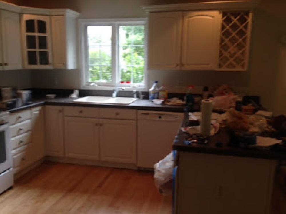 before - Hello Lovely's fixer upper kitchen