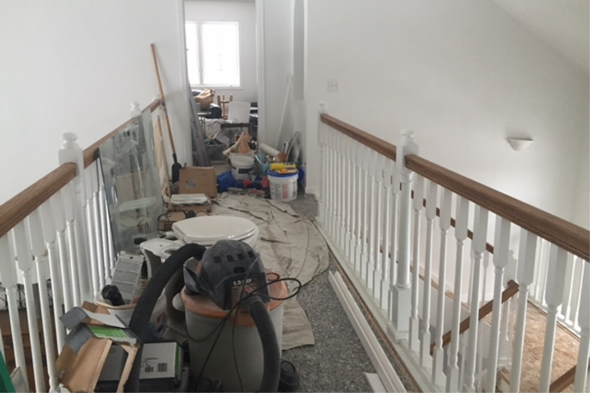 before pic during renovation