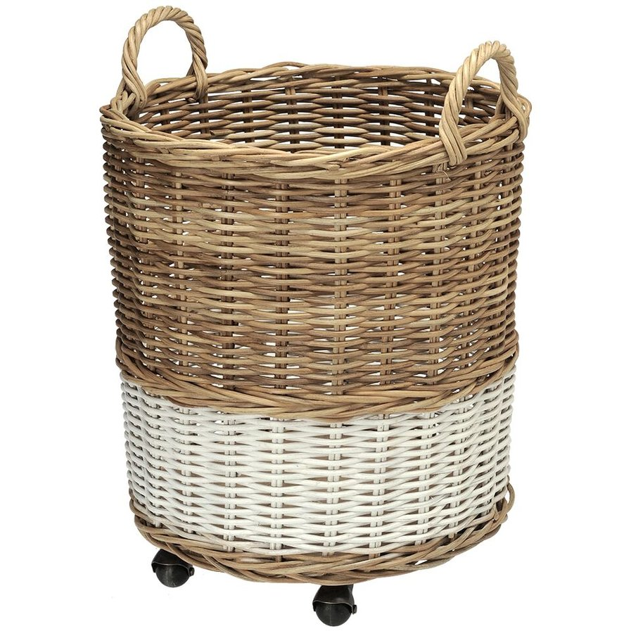 Basket with casters.