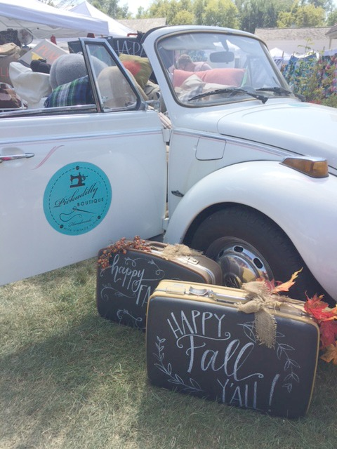Vintage  VW Beetle in fall by Hello Lovely Studio