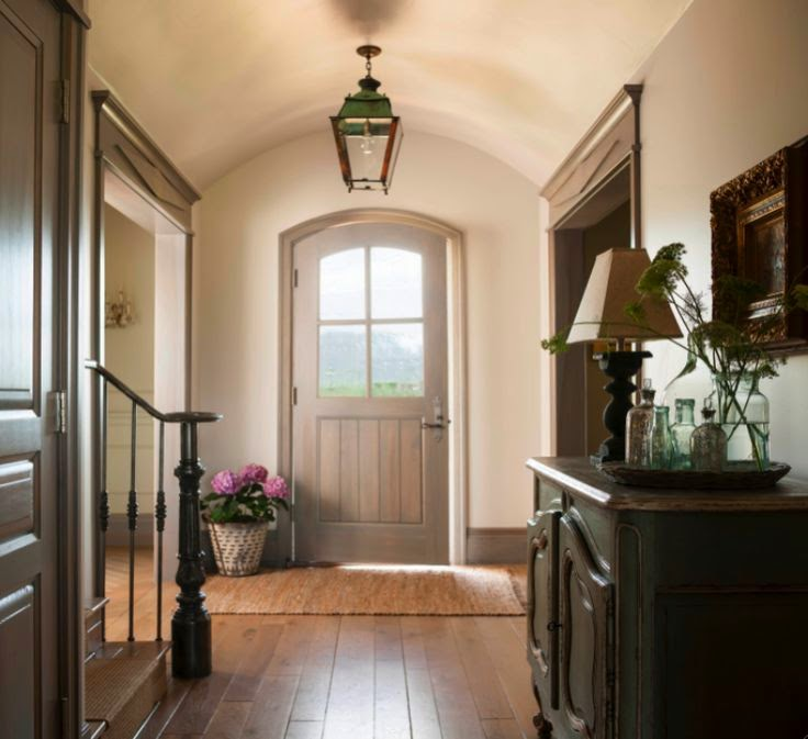 Gorgeous entry in a French Country style cottage in Utah on Hello Lovely