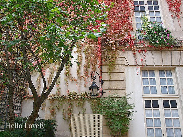 Pavillon de la Reine in fall on Hello Lovely