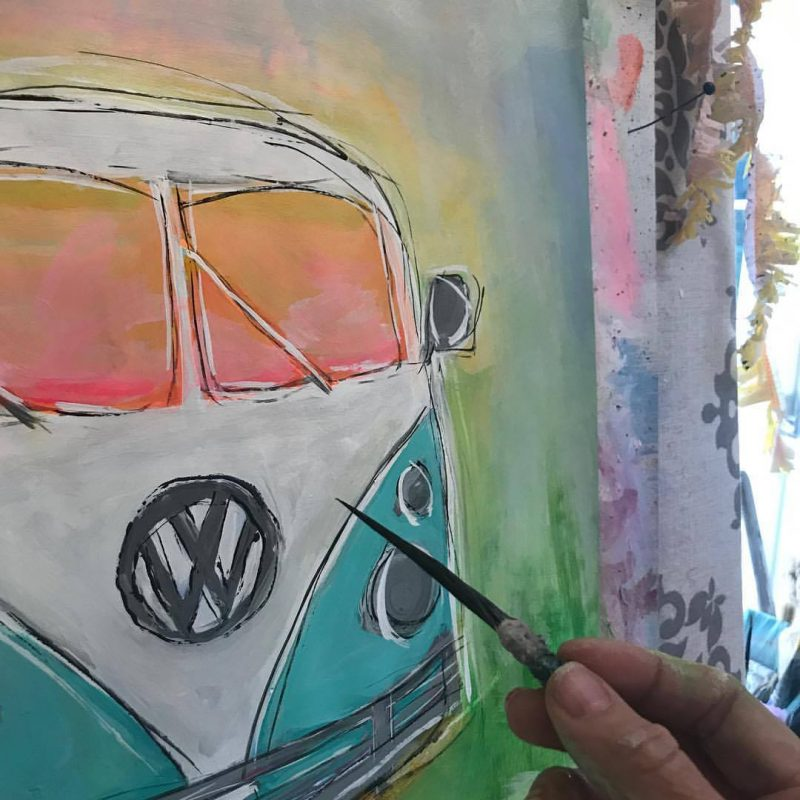 Vintage-VW-Bus-Painting-by-Jenny-Sweeney