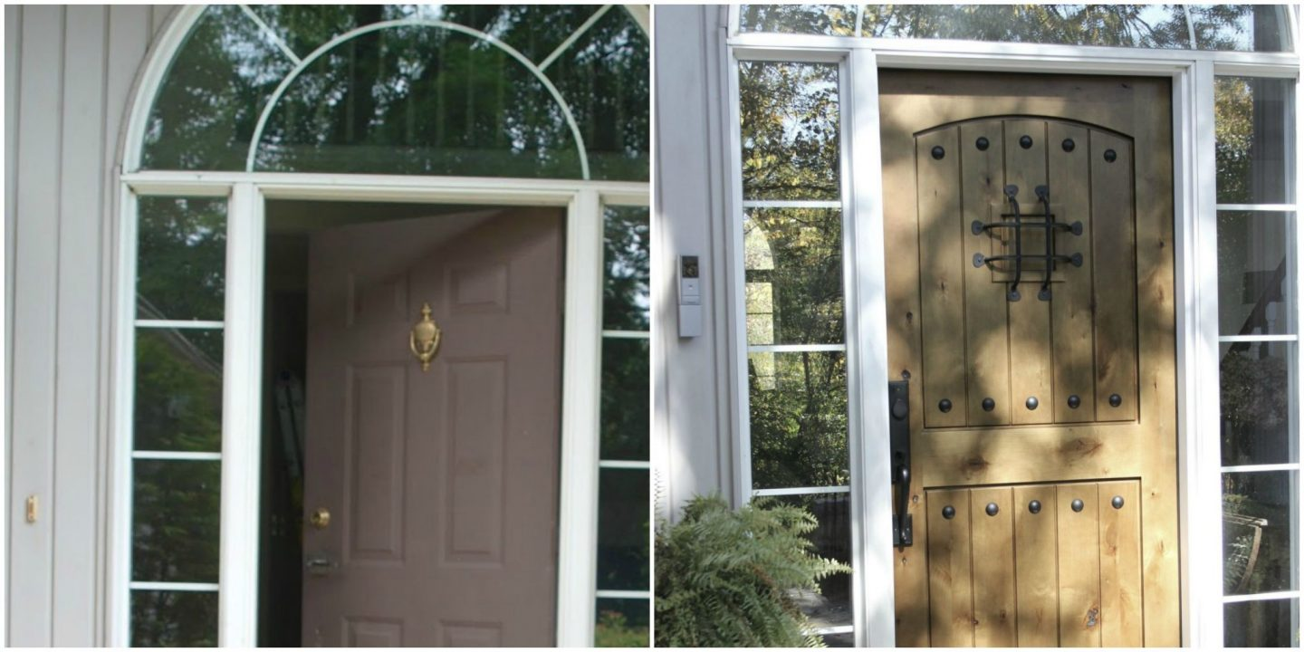 Exterior Video Doorbell by adorne - before and after - Hello Lovely