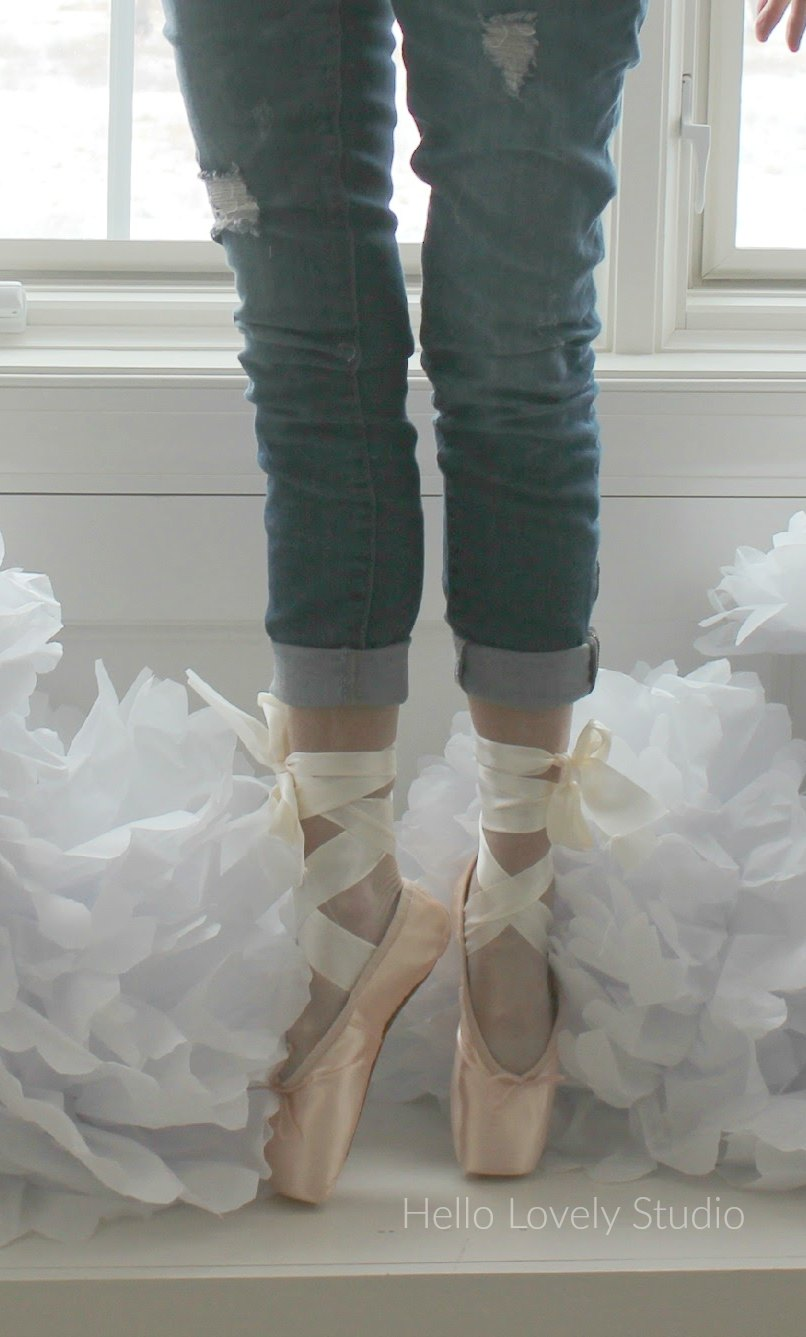 Michele in #pointeshoes on pointe by Hello Lovely Studio #onpointe #ballerina #balletslippers