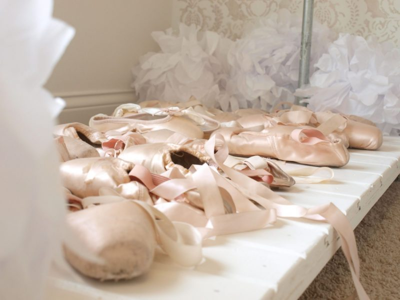 Pink ballet slippers by Hello Lovely Studio #pointeshoes