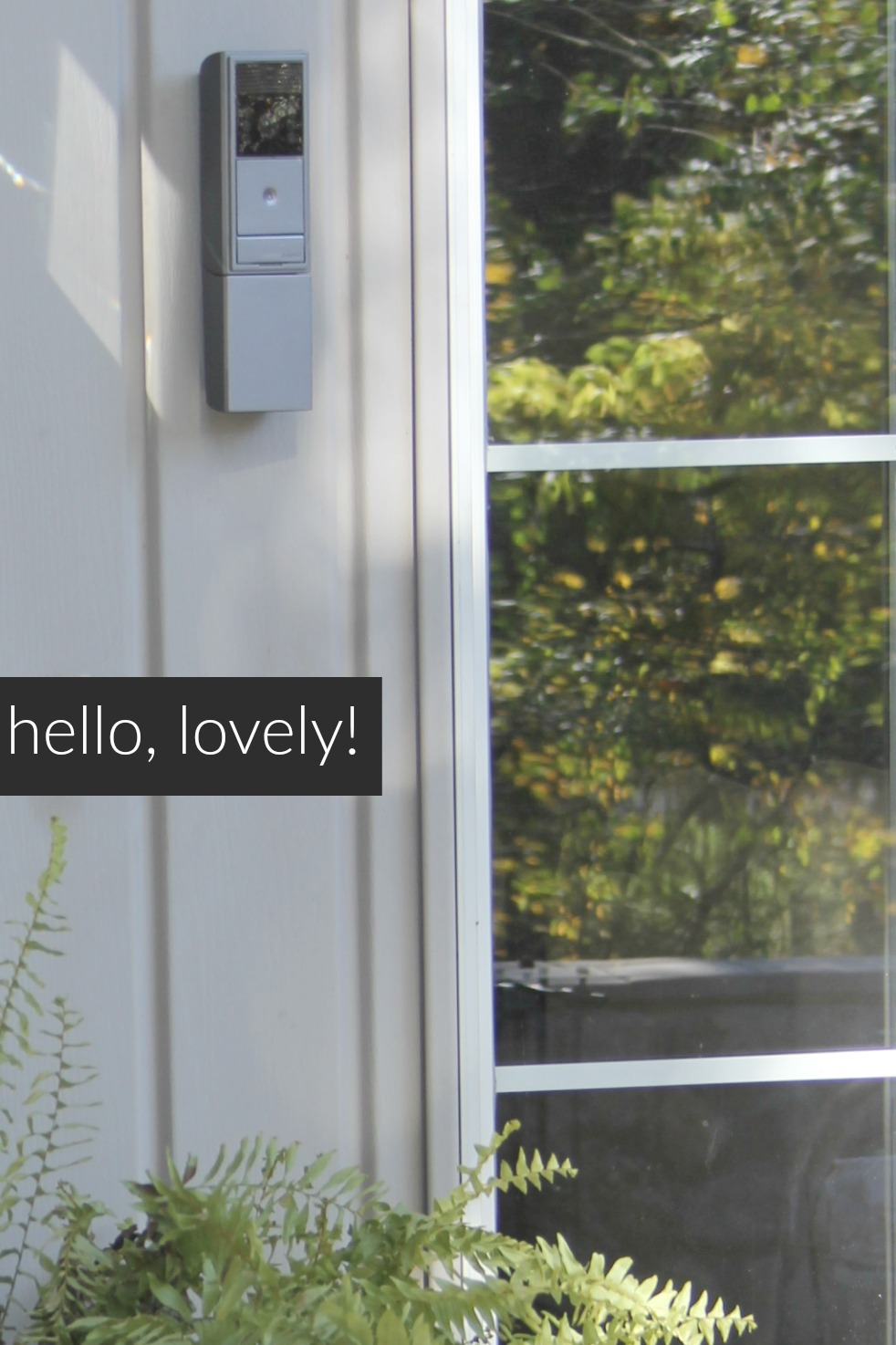 Exterior video doorbell intercom system from adorne - Hello Lovely
