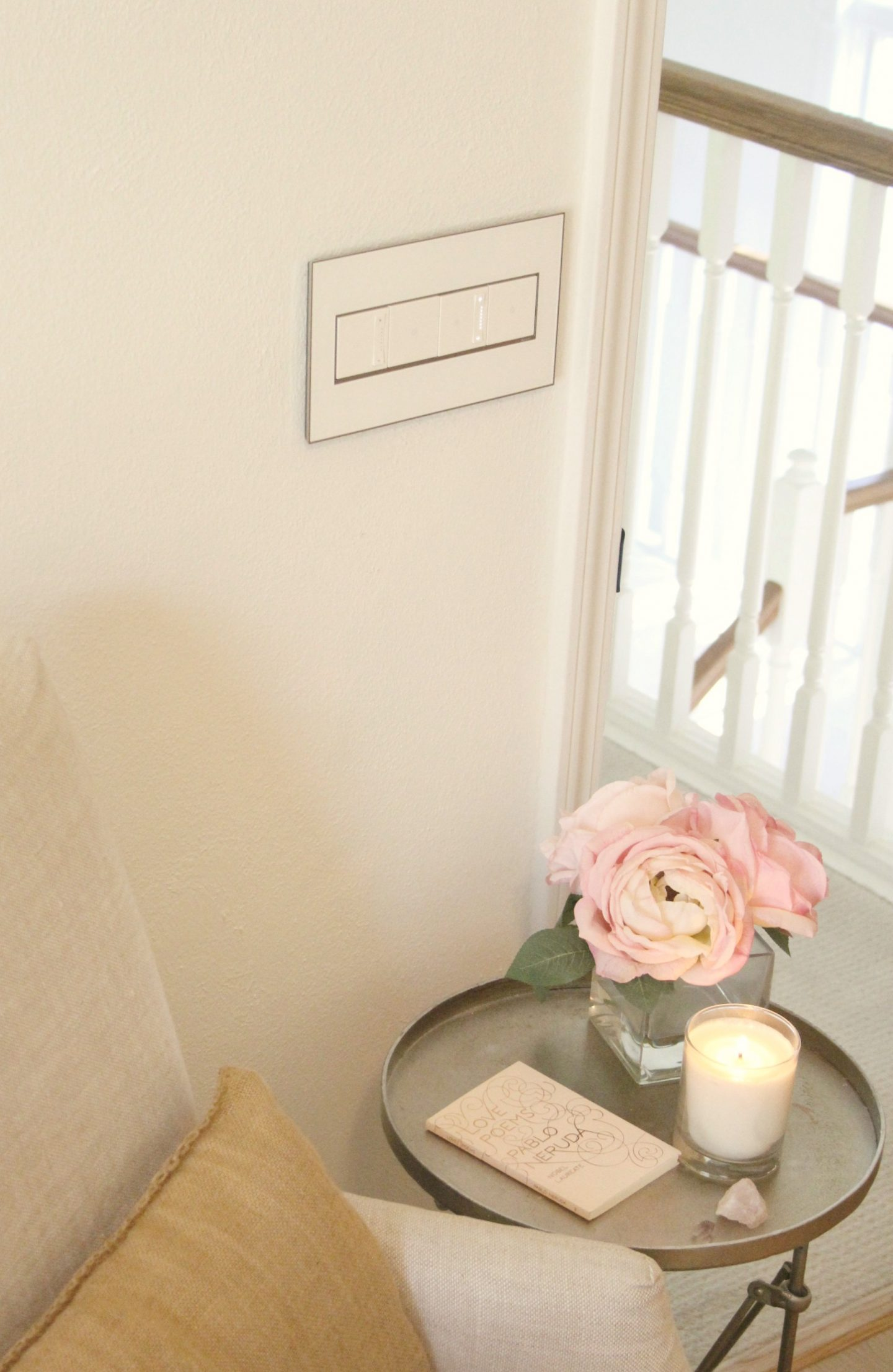 Beautiful adorne light switches, dimmers, and wall plate - Hello Lovely Studio