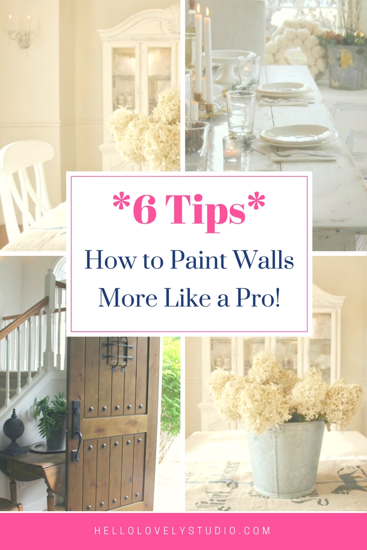 How to paint walls more like a pro 6 tips - Hello Lovely Studio