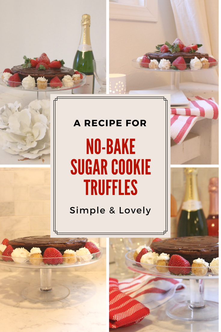 Recipe for no-bake sugar cookie truffles by Hello Lovely Studio