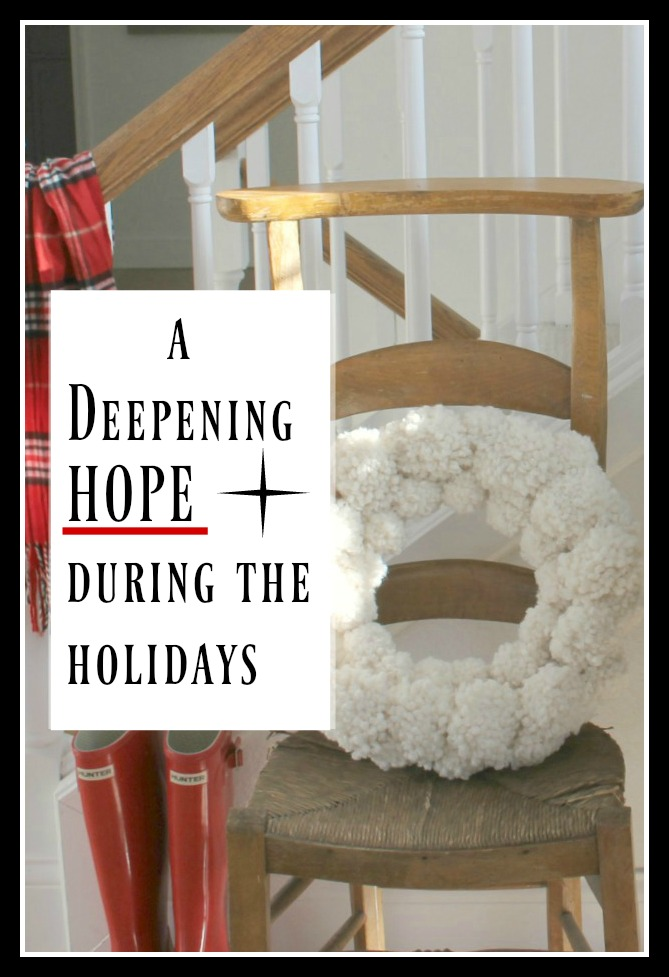 A Deepening Hope During the Holidays