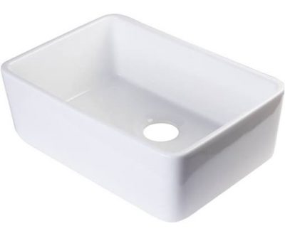 Fireclay Apron Front Kitchen Farm Sink #farmsink #farmhousestyle #kitchensink