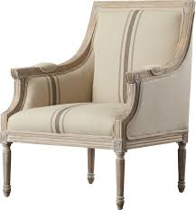 Grainsack Stripe French Linen Arm Chair #frenchcountry #grainsack #armchair #chair