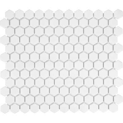 White Honeycomb Mosaic Tile