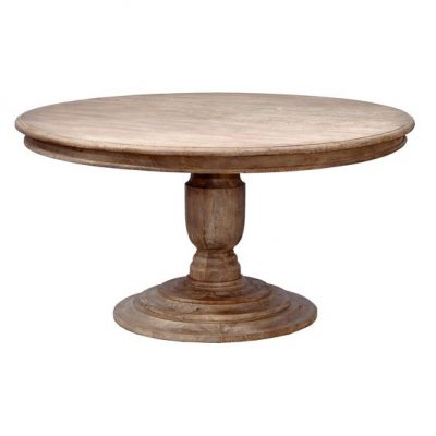 60″ Round Pedestal Dining Table