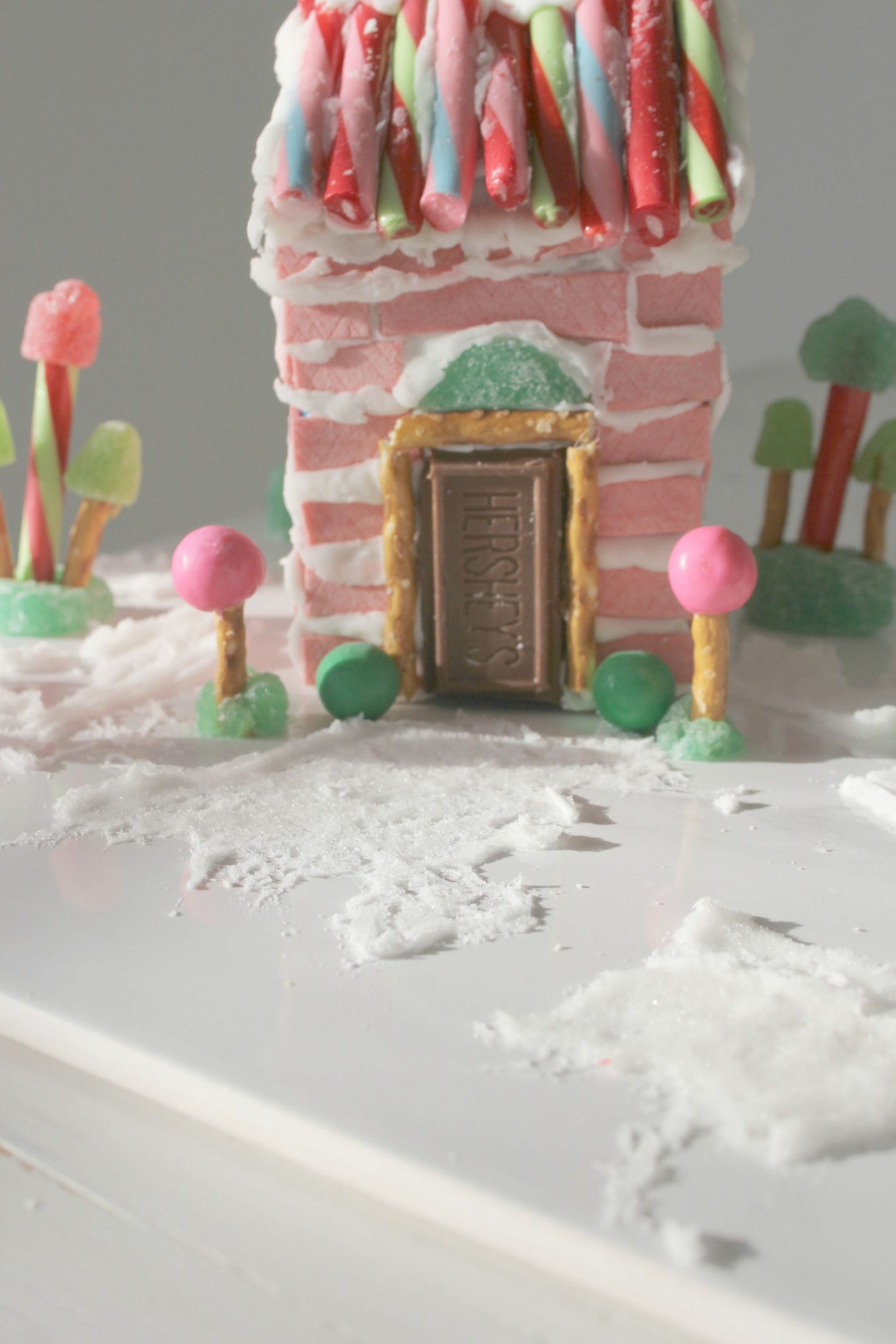 My Holiday Pink Bubblegum Candy House - Hello Lovely Studio