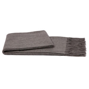Cashmere Throw With Fringe