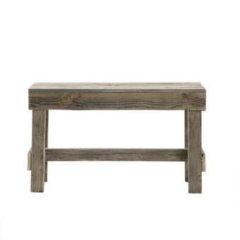 Marsh rustic wood farmhouse bench.