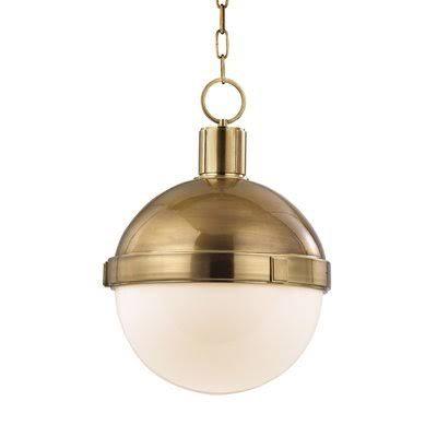 Modern Brass Globe Pendant