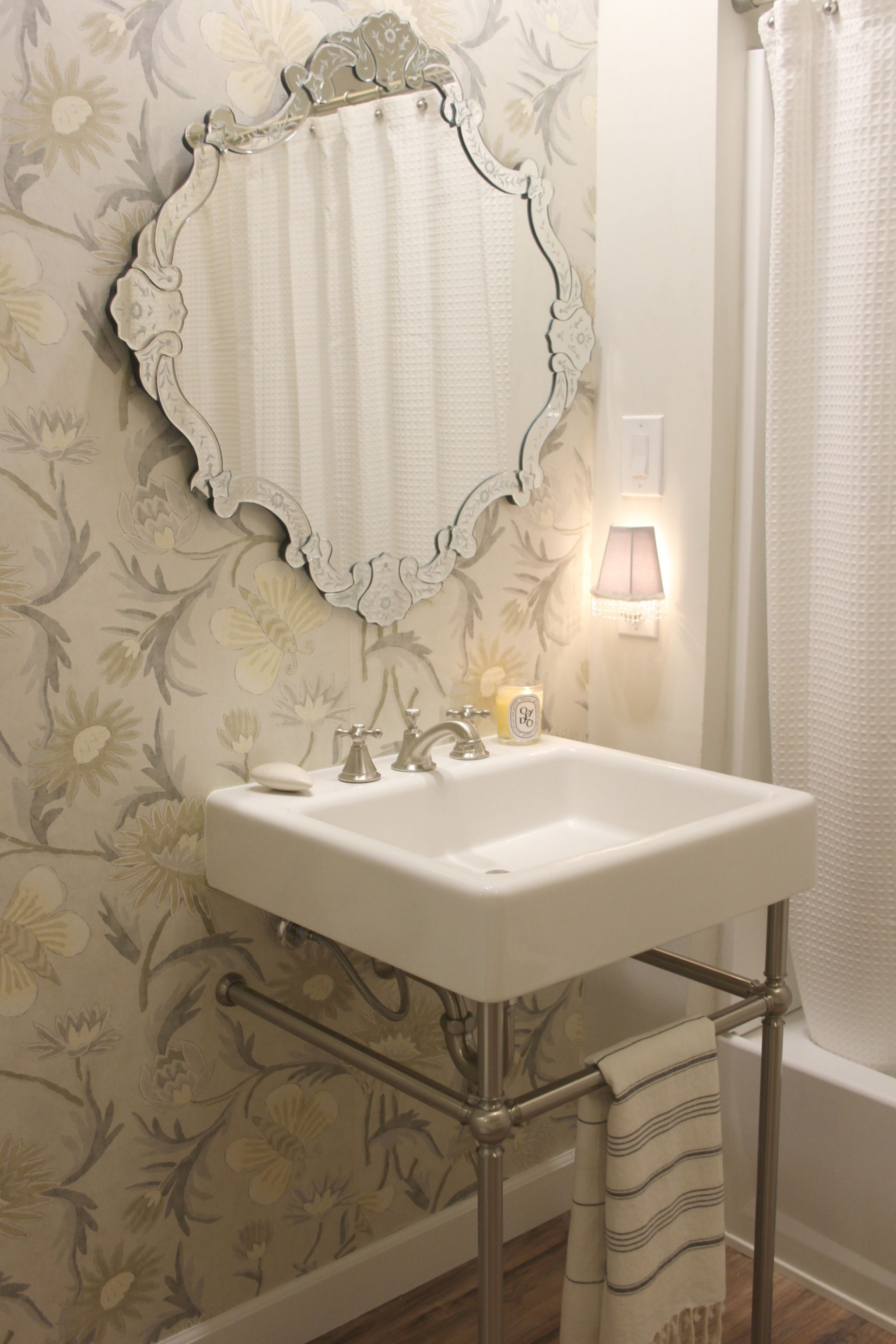 A Stunning New Modern Farmhouse Bathroom At The Fixer Upper Hello Lovely