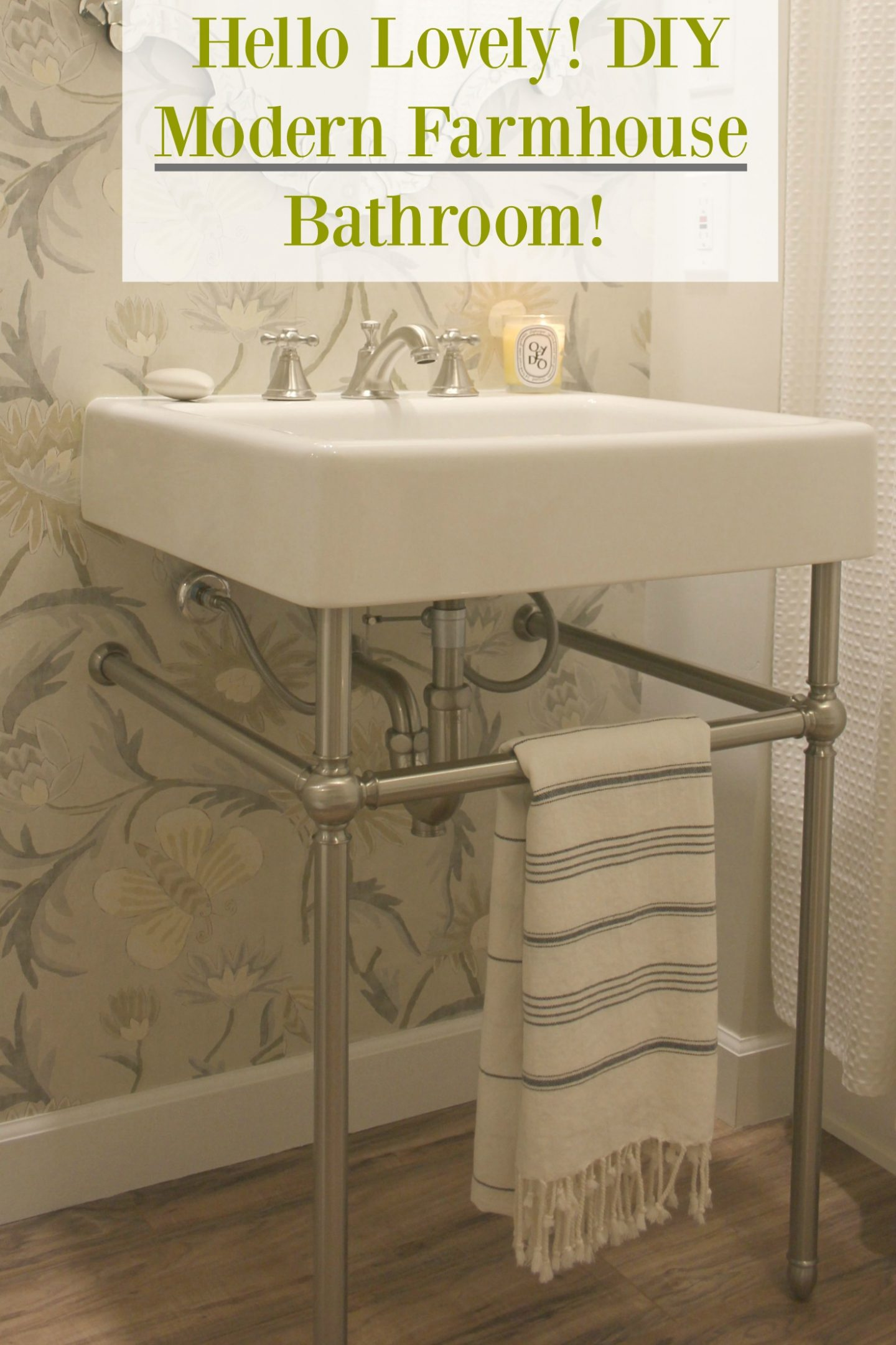 Hello Lovely! DIY Modern Farmhouse Bathroom!
