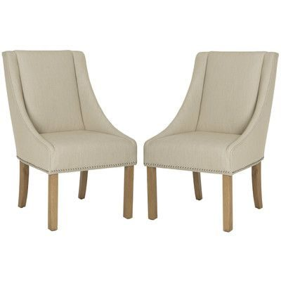 Linen Slope Arm Dining Chairs