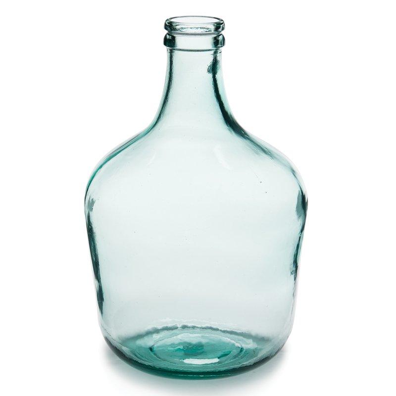 Parisian Bottle Glass Vase