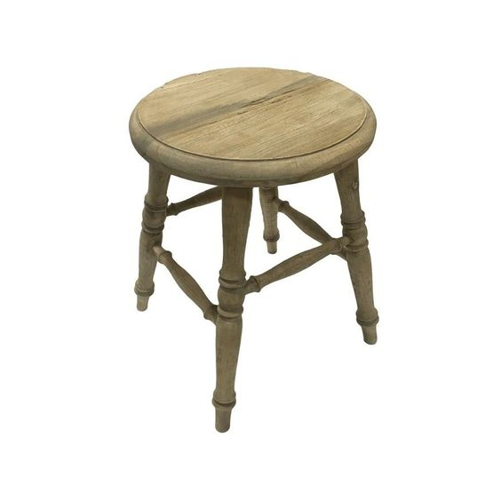 Rustic wood accent stool.