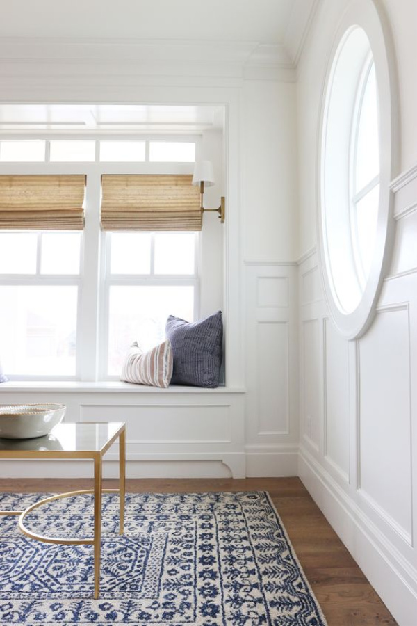 Simply White by Benjamin Moore is a beautiful and versatile white paint color chosen for this interior by Studio McGee. #benjaminmoore #simplywhite #paintcolors #bestwhitepaints