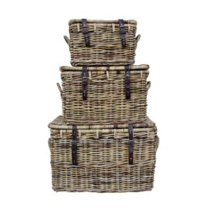 Wicker Trunk Set
