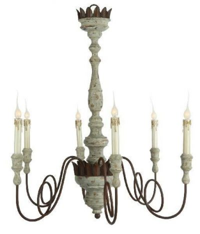 Aidan Gray Mumaw French farmhouse chandelier. #aidangray #chandelier #frenchcountry #frenchfarmhouse