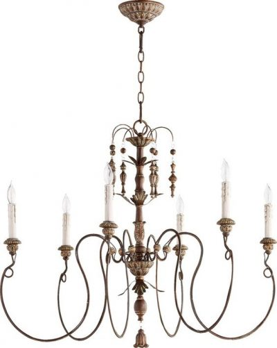 French country candle style chandelier.
