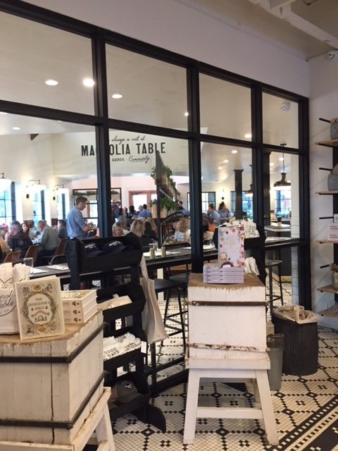 Gift shop area of Magnolia Table - black and white decor and farmhouse style. #magnoliatable