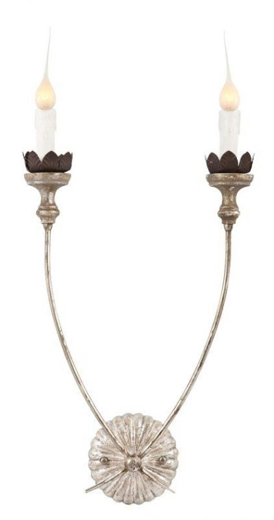 French Country 2-Light Candle Style Sconce #frenchcountry #sconce #oldworld