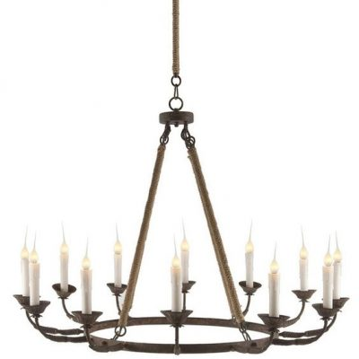 Rustic Ring 12-Light Chandelier