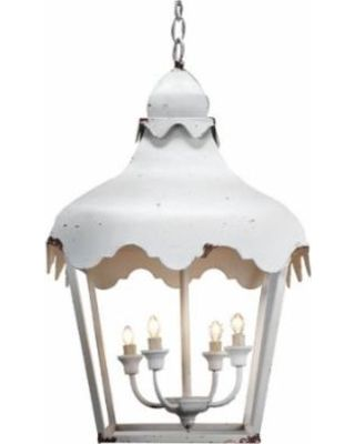 White Farmhouse Lantern Pendant Light