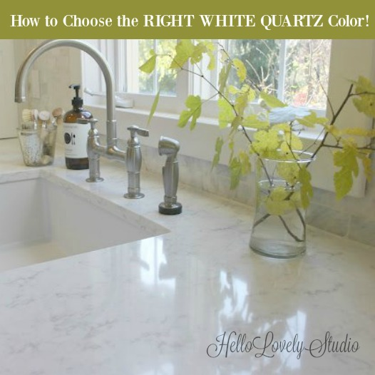 How to Choose the Right White Quartz Color! Hello Lovely Studio