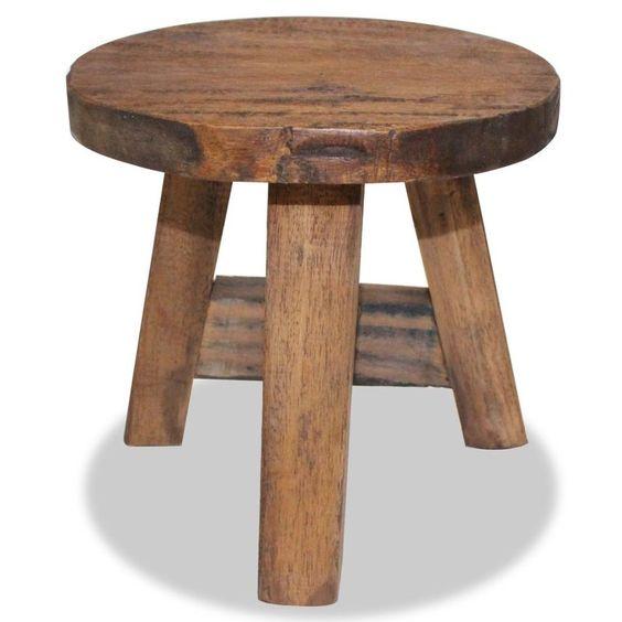 3 Leg Stool solid reclaimed wood