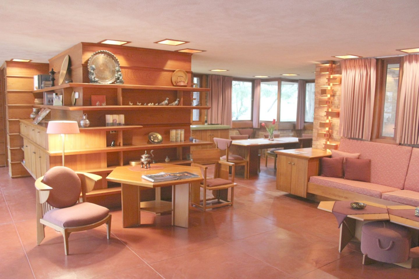 "The Shining Jewel Within Frank Lloyd Wright's ""Little Gem"" {Laurent House}"