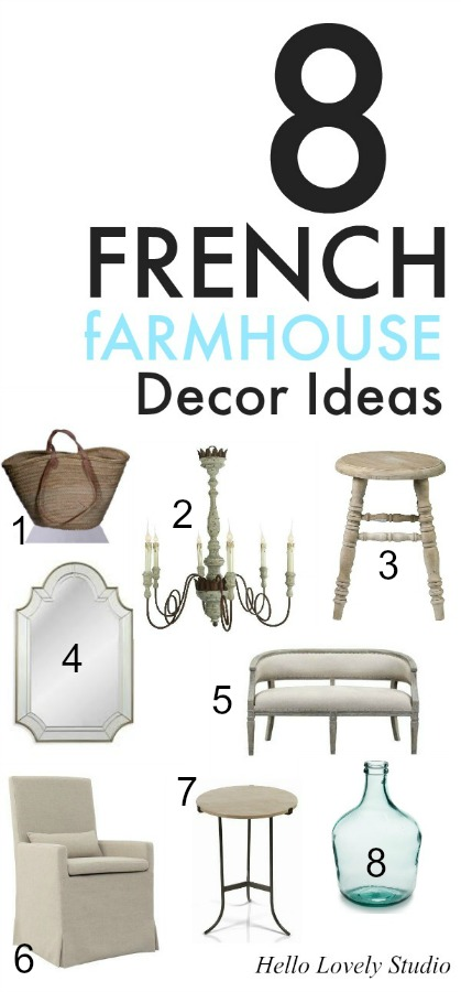 French farmhouse decor ideas and French country interior design inspiration to pin for later! COME TOUR these lovely, romantic, French inspired interiors and take away decorating ideas and resources. #frenchfarmhouse #frenchcountry #decoratingideas #interiordesignideas #homedecor #interiordecorating