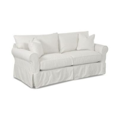 Beachy White Slipcovered Sofa
