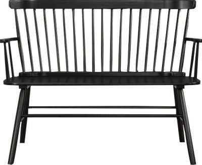 Black Modern Farmhouse Bench