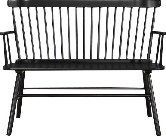 Black modern farmhouse bench.