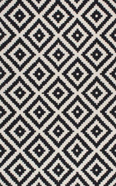 Black & White Wool Area Rug