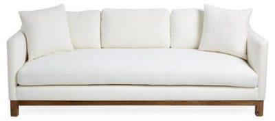 Cara White Sofa