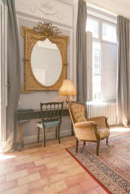Palatial French apartment rental in Carcassonne! Historical 1600's property! Versailles style furniture and authentic classic French decor await! Taste of France.